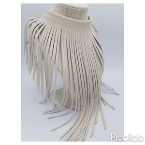 Jewelry - Genuine Leather Fringe Choker